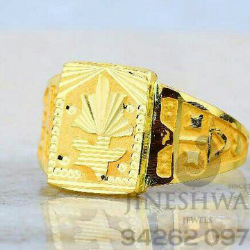 Plain Gold Fancy Gents Ring