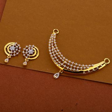 22kt Cz Women's Stylish Pendant Set MP271