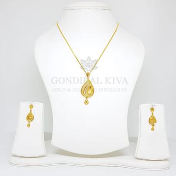 18kt gold pendant set gchp2 - gft15