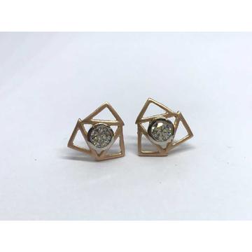 18k Ladies Fancy Rose Gold Earring E-60520