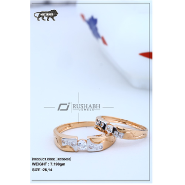 Rose gold couple ring rcg0003