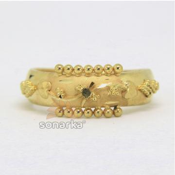 22ct Gold Ladies Ring Indian Rasrava Flower Design Kaida