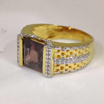 22k Gents Fancy Gold Color Ring Gr-26779