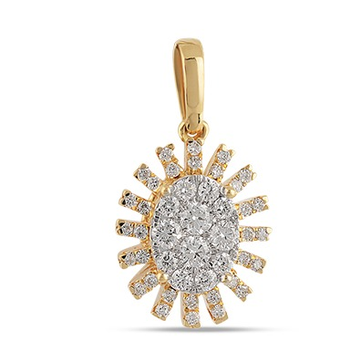 22kt gold and diamond oval shaped pendant jkr002