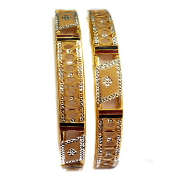 22k Gold Simple Design Kadli Bangles MGA - GK061