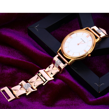 750 Rose Gold Classic Mens Watch RMW10