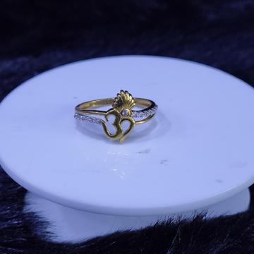 22KT/916 Yello Gold Ulva Om Ring For Women