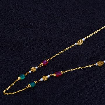 Ladies 916 Gold Fancy Colouring Moti Mala-AC65