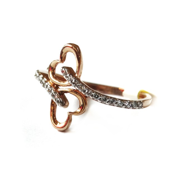 18k rose gold heart shape ring mga - rgr0037