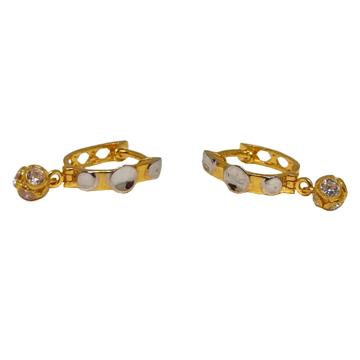 18K Plain Gold Designer Earrings MGA - BLG0614