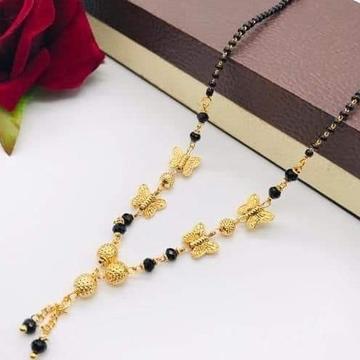 916 gold butterfly mangalsutra
