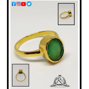 22 carat gold  panna stone gents rings rh-gr279