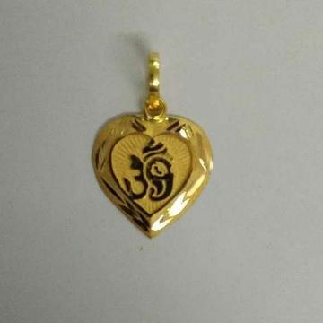 18K / 750 Gold Nakshi Ganesh Plain Pendant