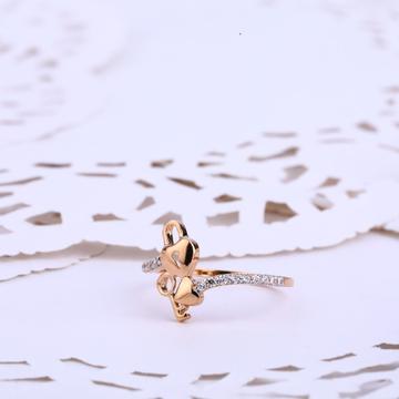 760 Ladies CZ Designer Rose Gold ring RLR558
