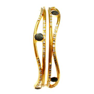 22k gold copper kadli bangles mga - gk040