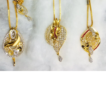 916 gold cz chain pendant set cps-0007