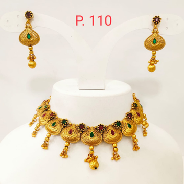 Antique design with choker and emerald and ruby stone 1382