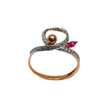 18k rose gold modern ladies ring mga - lrg1187