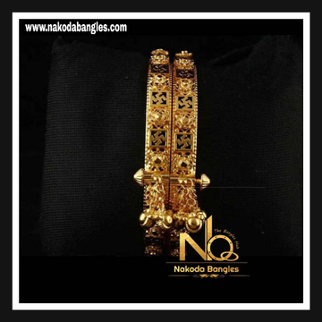 916 Gold Antique Bangles NB - 738