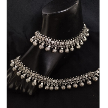925 Pure Silver Antique Payal Handmade PO-208-23 by Puran Ornaments