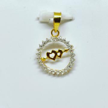 18 KT 750 Hallmark fancy delicate heart diamond Pendent by Harekrishna Gold