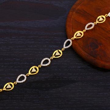 916 Gold Ladies CZ Fancy Bracelet LB372