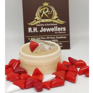 silver mangal stone ring RH-SR612