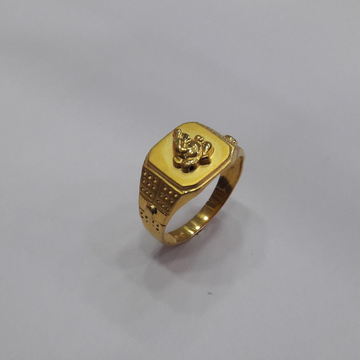 22k gold gents ring by