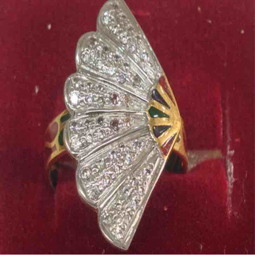 916 Gold Butterfly Ladies Ring