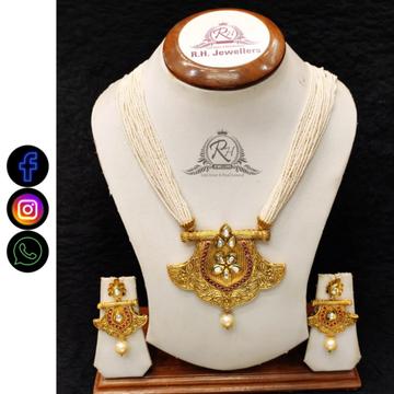 22 carat gold manufacturer of fancy necklace set RH-LS510