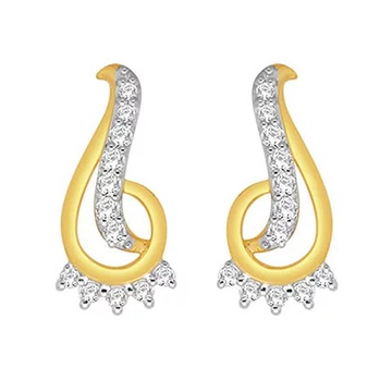 18k gold real diamond fancy earring mga - rde007