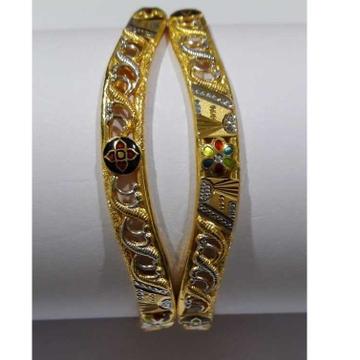 916 Gold Fancy Colorful Designer Copper Kadli by