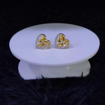 22KT/916 Yellow Gold Heart Earrings For Women