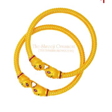 916 Gold Fancy Variya Copper Kadali - 013