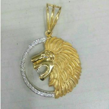 22KT Gold Gents Lion Designer Pendant