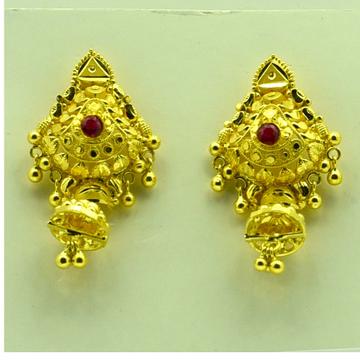 22k plain earrings