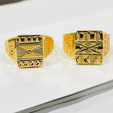 916 Gold Plan Gents Ring-0001