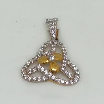 916 Gold CZ Designer Pendant MJ-P005
