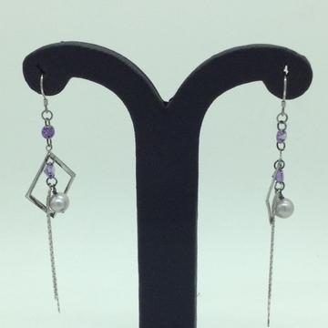 PearlSilverEar HangingsJER0139