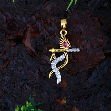 22KT CZ Gold Krishna Pendant JJ-P046