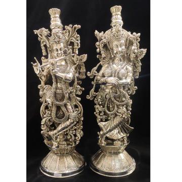 Pure silver radha krishna (high finishing)