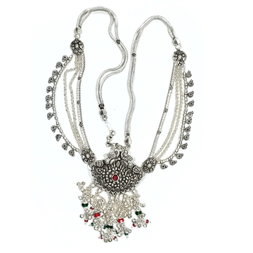 Oxidized antique peacock silver kamarbandh mga - jus0056