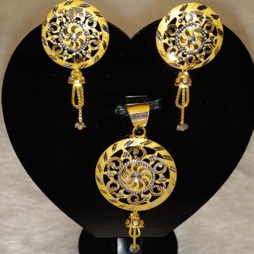 latest Pendant Set by Gold & Silver Palace