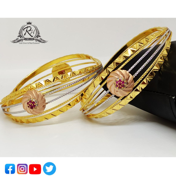22 carat gold fancy bangles RH-LB418