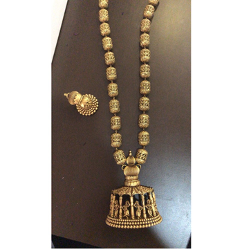 916 Gold Antique Temple Necklace Set SBS-N03