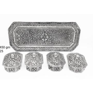 silver traditional mukhwas box RH-TD917