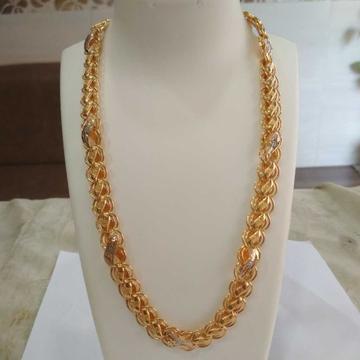 22k gold hollow chain nj-c030