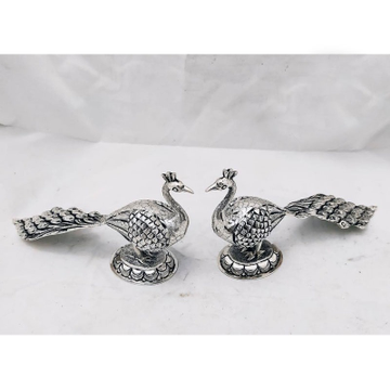 925 Pure Silver antique Peacock