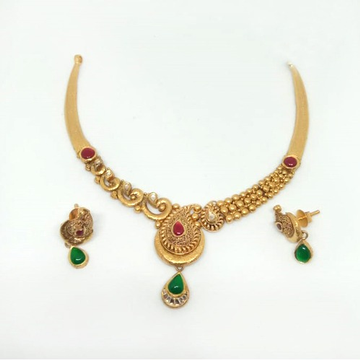 916 Gold Antique Necklace Set ML-N004