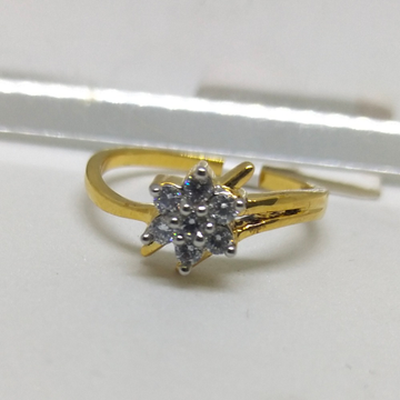 22K star shape diamond ring